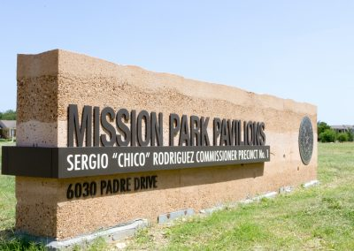 Mission County Park Signs
